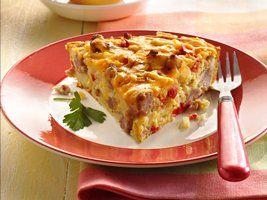 Impossibly Easy Sausage Breakfast Pie Recipe from Betty Crocker