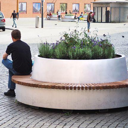 Bep1216 Hwep Groene Cirkel Banken Den Bosch Mobile Circular Bench With Tree Planter Tree Planters Vertical Garden Indoor Planter Bench