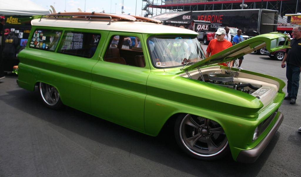 Custom 1966 Green Suburban | Flickr - Photo Sharing!