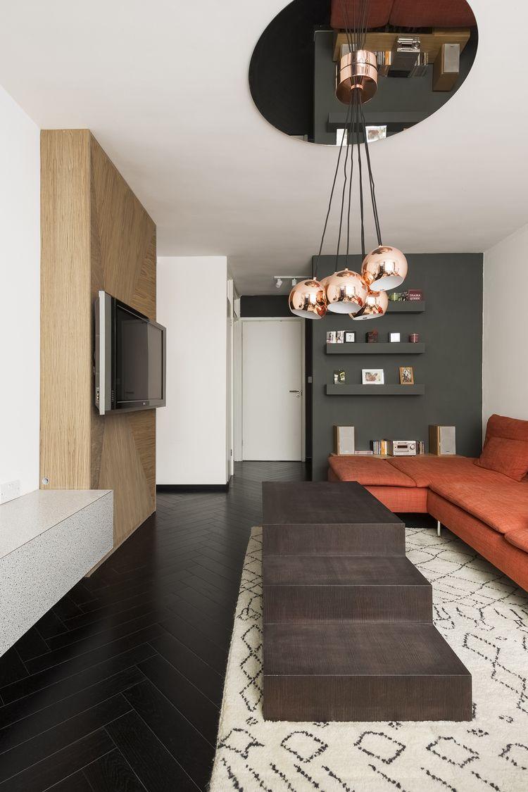 Moderne Wohnzimmer · Innenarchitektur · Punsch · Esszimmer · Tapete ·  Apartment Filippo London