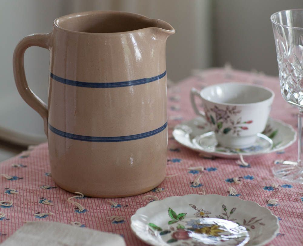 Blue and Tan Pitcher (made in TX)... Love this pitcher