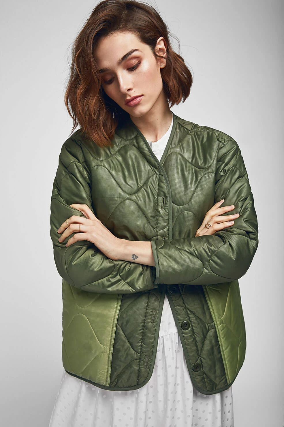 Anine Bing Andy Bomber Military Green In 2020 Army Jacket Military Green Lightweight Bomber