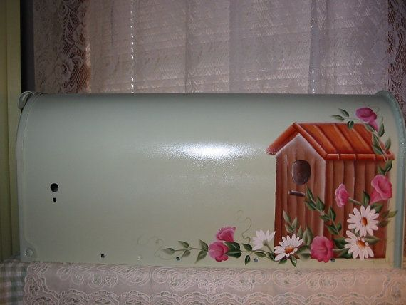 Hand Painted Mailbox  Birdhouse with Morning