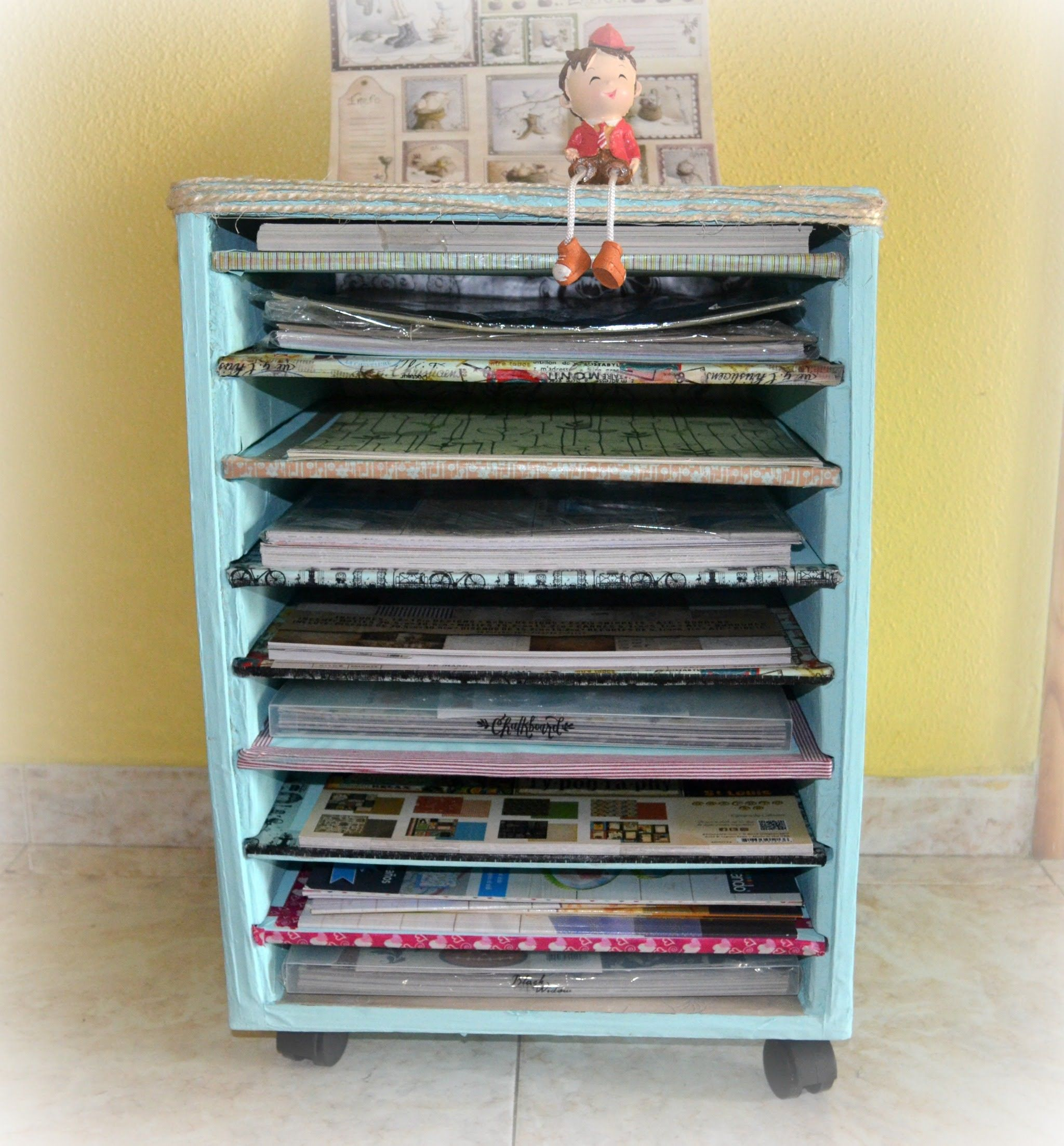 Tutorial: Estantería de cartón para papeles scrap | DIY - TECNICAS ...