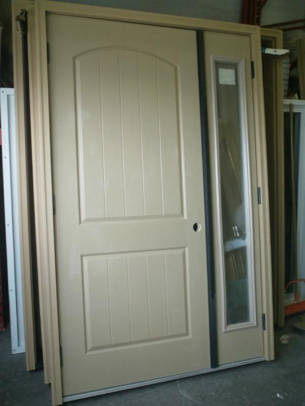 Astonishing Two Panel Front Door With Sidelights Gallery - Exterior ...