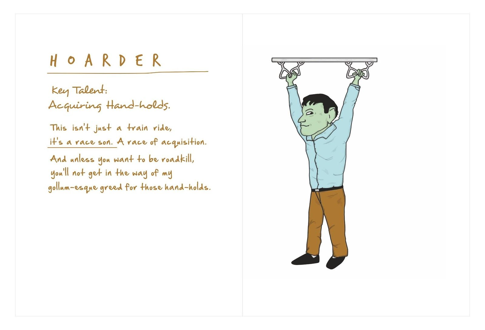 I Take This Train Too - caricatures & comical profiles of the Mumbai train travellers.