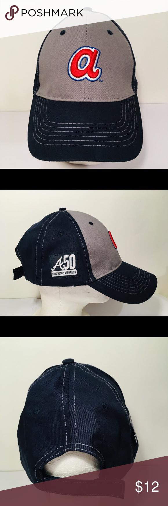 b73a4890283 Atlanta Braves Hat 50 Years in ATL
