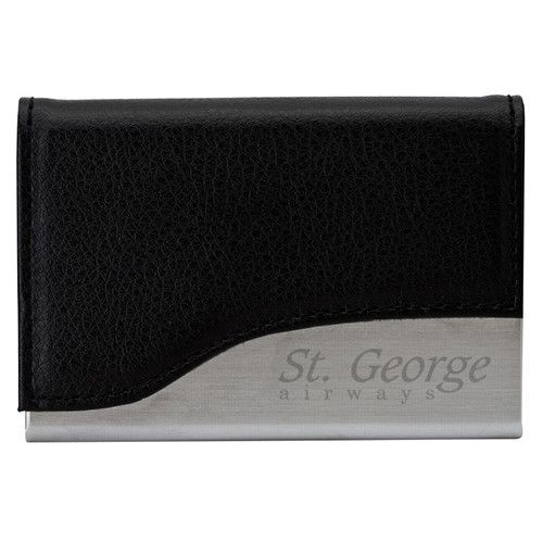 Imprinted Leather Business Card Case (Q783311)