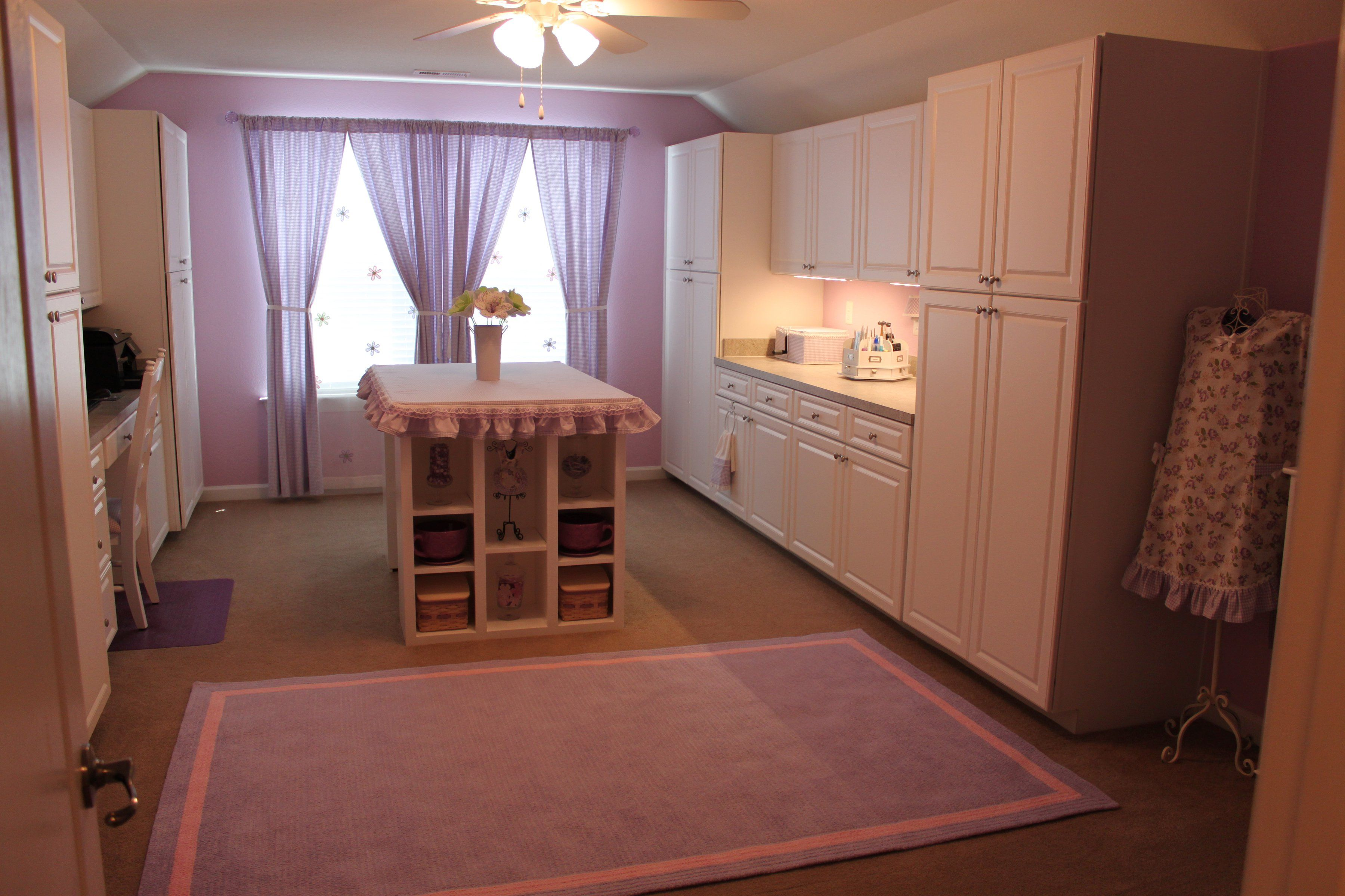 Another view of pink craft room