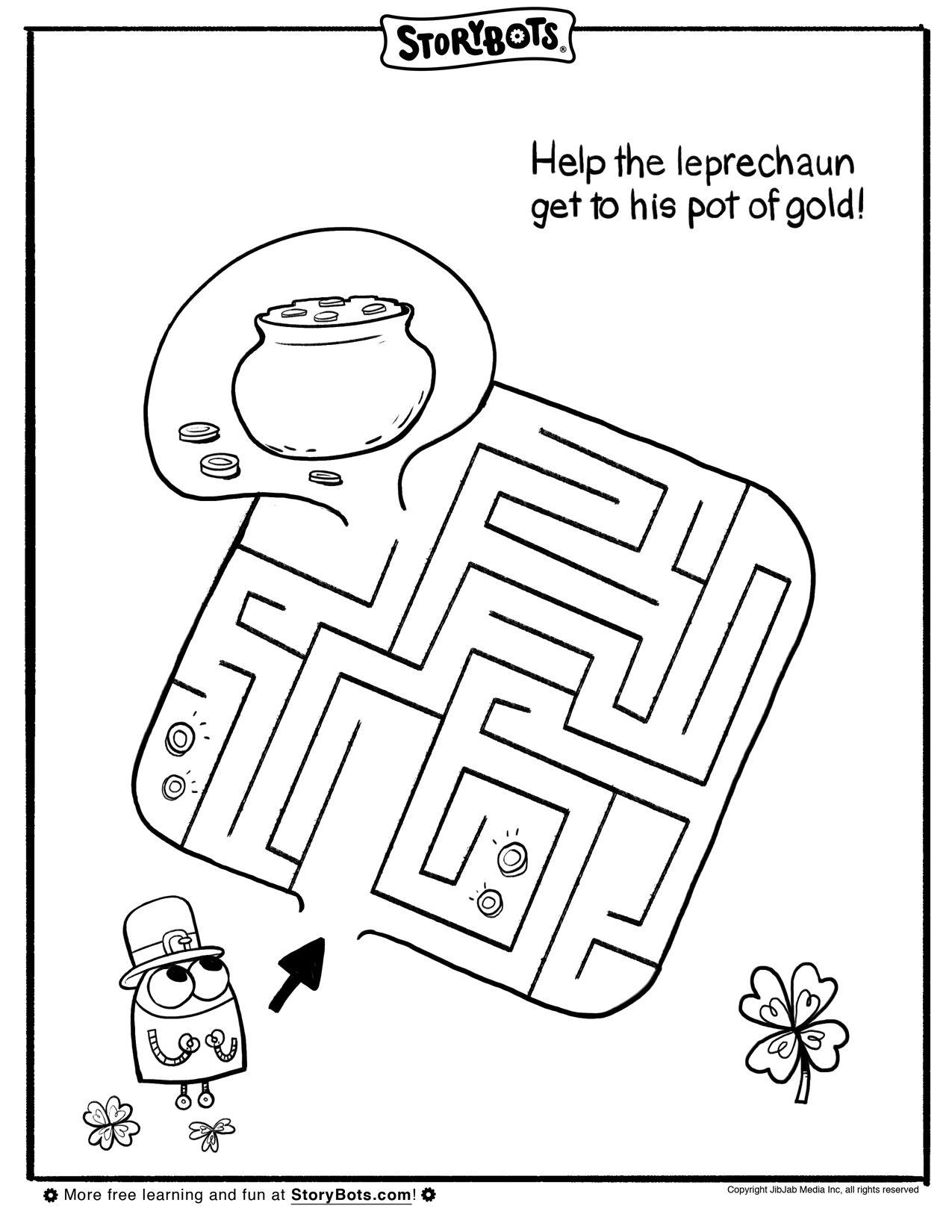 St Patrick S Day Maze