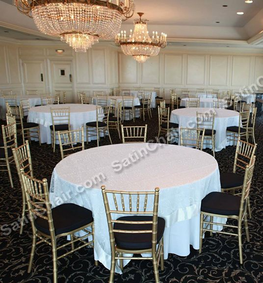 Gold Chiavari Chair Rental For Chanel Theme Event Rent At Satinchaircovers Com Wedding Event Decor Gold Chiavari Chairs Event Decor