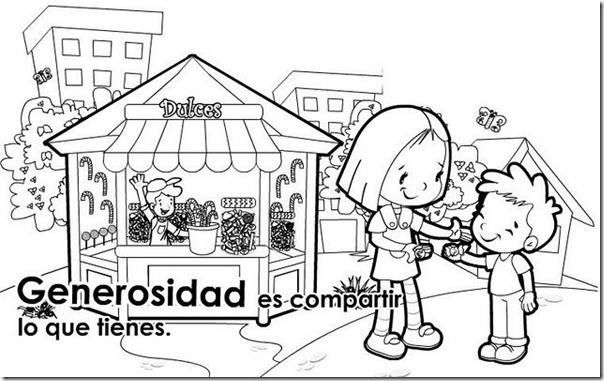 Generosidad Coloring For Kids Kindergarden Coloring Pages