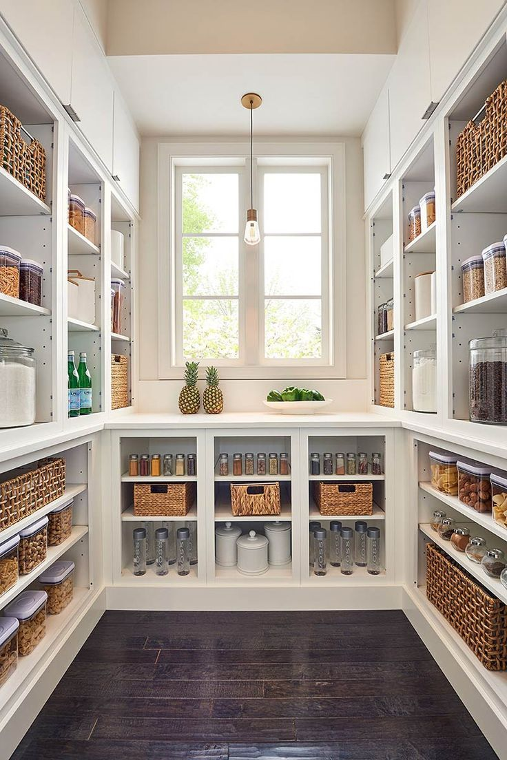 Beautiful coastal farmhouse pantry