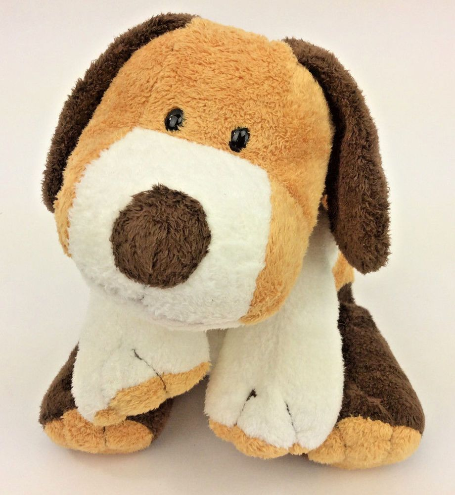 Ty Pluffies Whiffer Beagle Puppy Dog Brown White 2002 Plush
