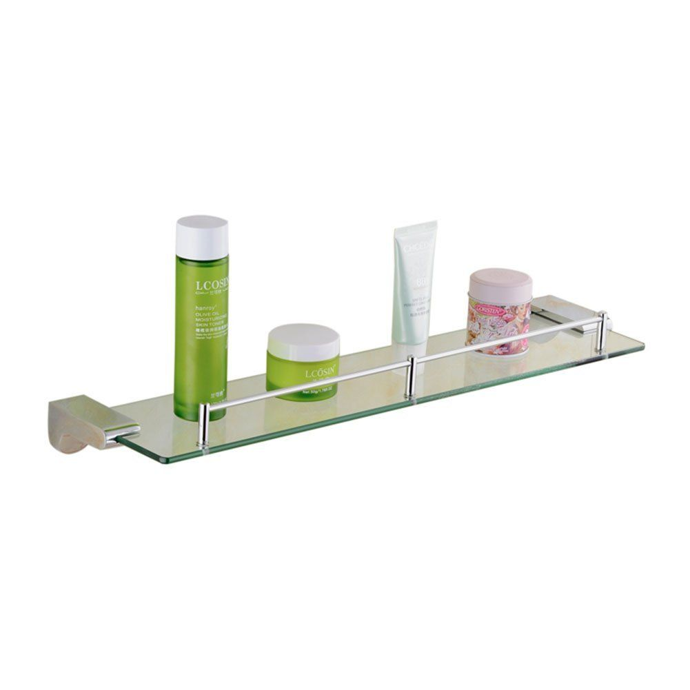 Amazon.com - Generic Floating Wall Mounting Glass Shelf with Rail ...