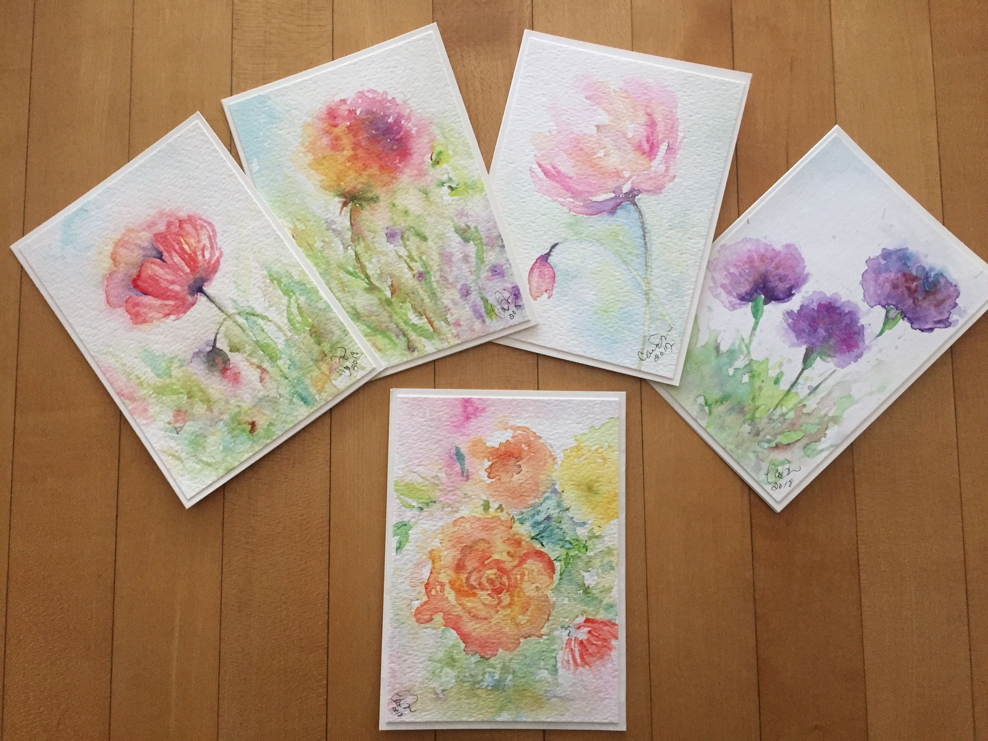 Is There A Color I Have Not Used Paint Cards Floral Watercolor