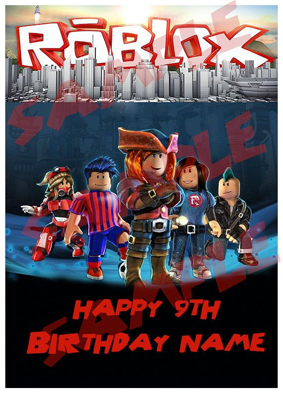 Roblox Cake Topper Digital Download 11th Party Roblox
