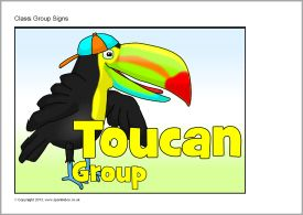 Toucan class group signs (SB9717) - SparkleBox