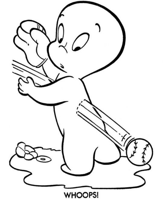 Casper The Friendly Ghost Coloring Pages | Coloring Pages | Pinterest
