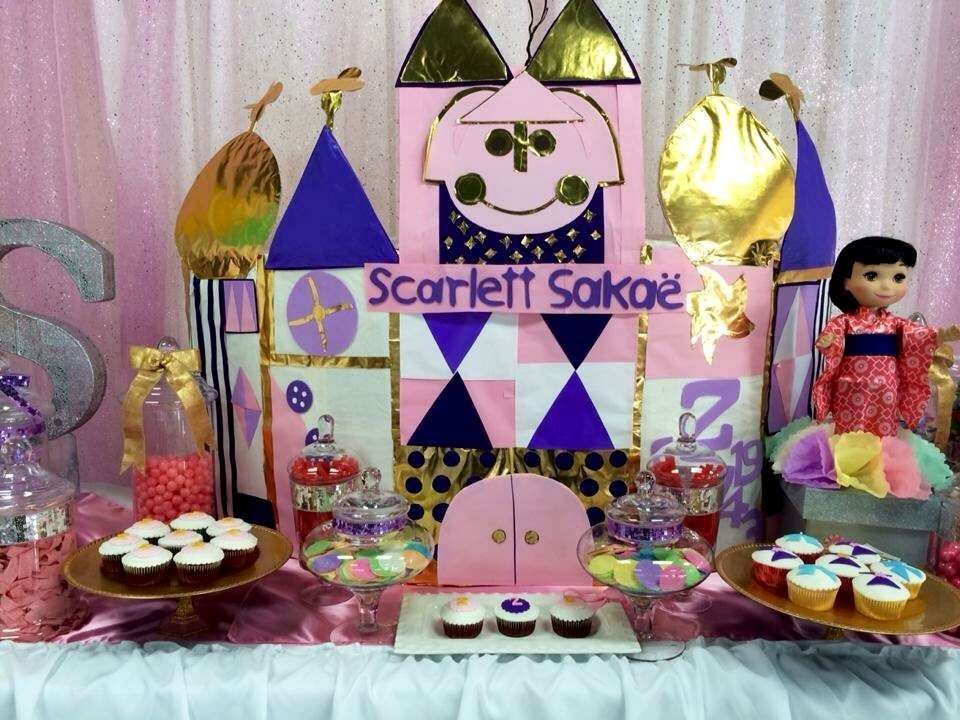 Fantastic It's a Small World party! See more party planning ideas at CatchMyParty.com!