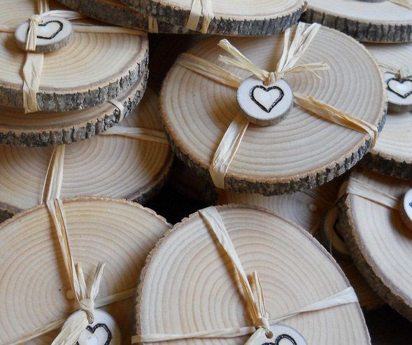 100 Cheap Wedding Favour Ideas For Under 1 Each: Rustic Wedding Favors Ash Coasters