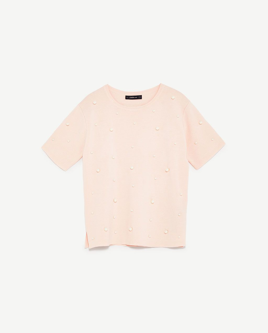 d2c26a8d8349 Image 6 of FAUX PEARL STUDDED TOP from Zara | My Style & Inspiration ...