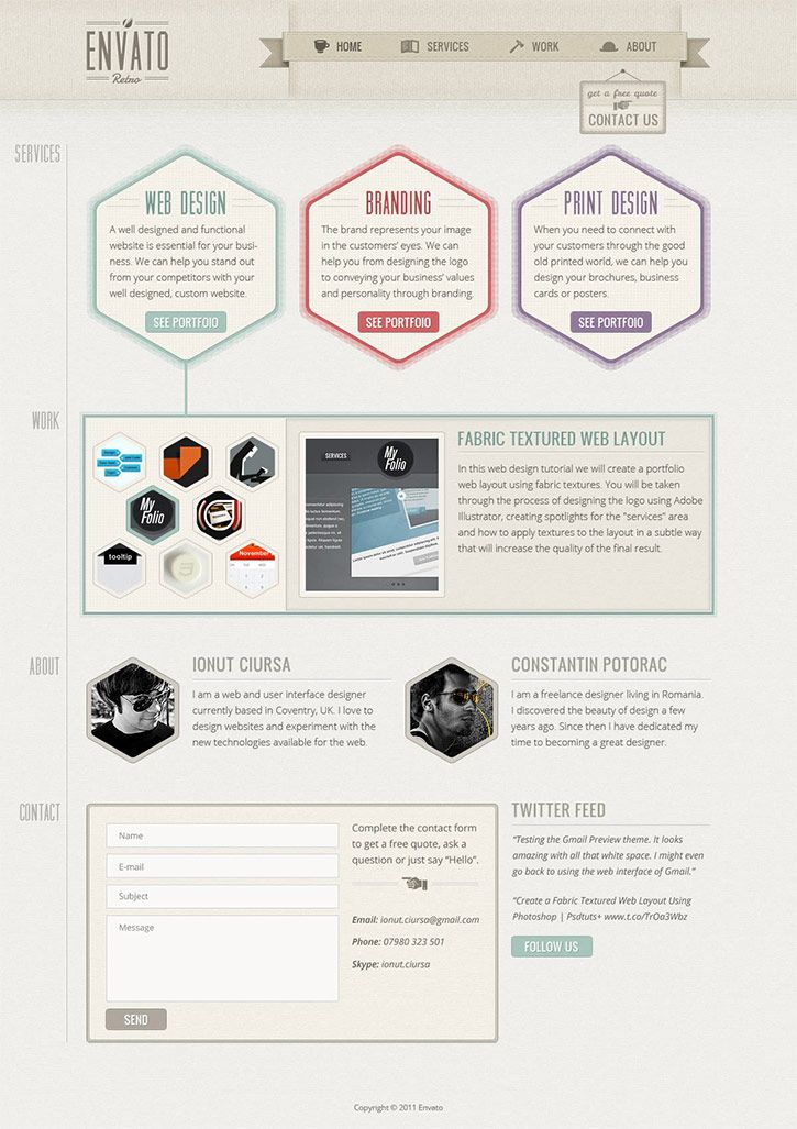 25 effective and vintage retro web designs | denis designs | free.