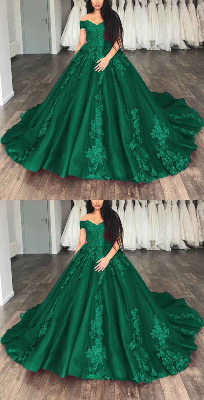 Off the shoulder tulle ball gowns quinceanera dresses lace appliques