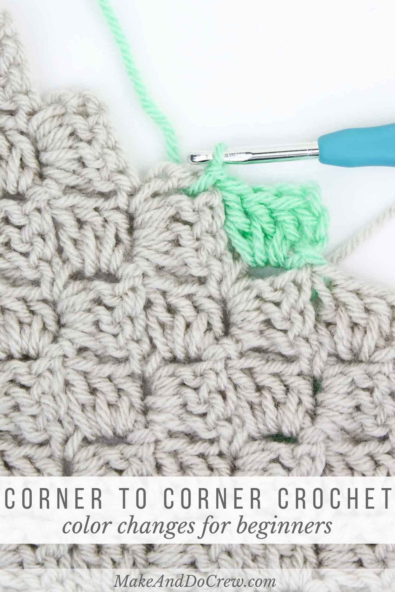 How to change colors in corner to corner crochet change colour how to change colors in corner to corner crochet bankloansurffo Image collections