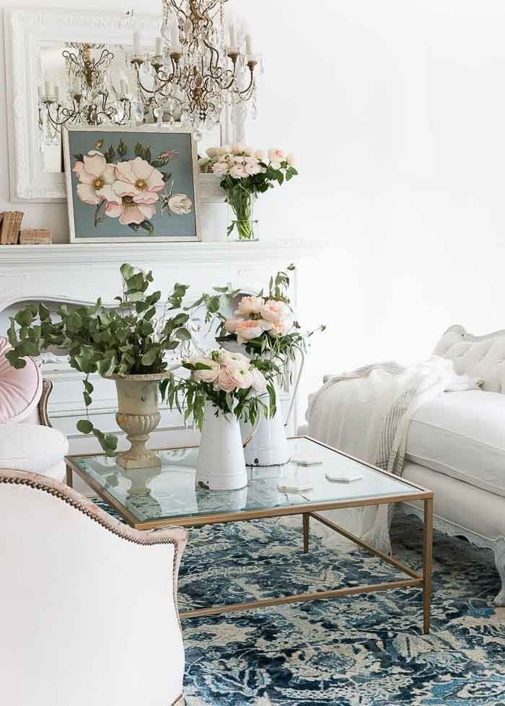 49 Cozy French Country Living Room Decor Ideas | Fashion for ...