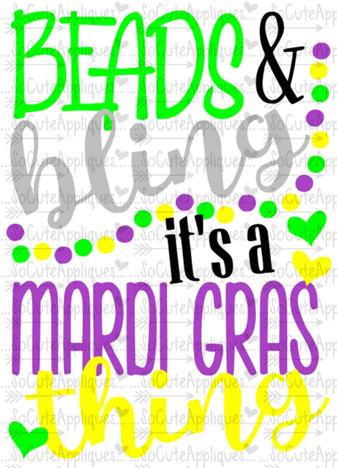Scrapbook ideas new orleans - Mardi Gras Svg Beads And Bling Cut File Socuteappliques Fat Tuesday Svg Silhouette Cut File Cameo File Scrapbook File Nola Bead Svg