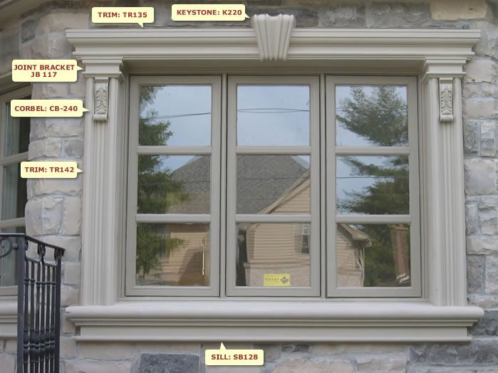 Window Design W48 Window Moulding In 48 Pinterest Window Custom Exterior Window Moulding Designs