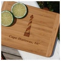 Cape Hatteras Lighthouse Bamboo Cutting Boards available at Blue Pelican Gallery Gifts and Yarn, Cape Hatteras, NC
