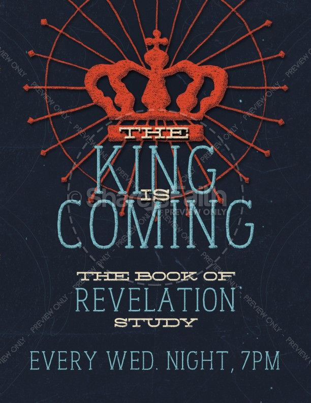 The King Is Coming Religious Flyer Pinterest Flyer Template