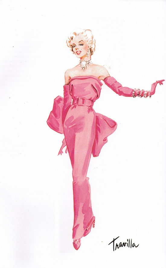 William Travilla's costume design for Marilyn Monroe from the movie 'Gentlemen Prefer Blondes'