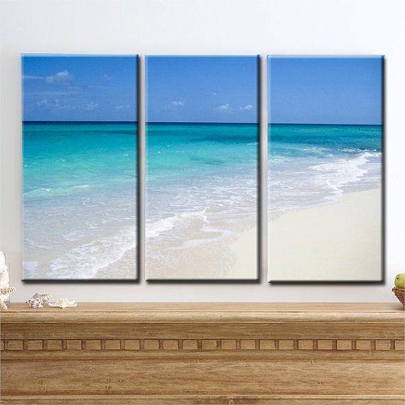 Ocean Of Love Large Canvas Art Barbados White Sand Beach