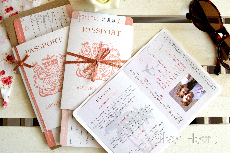 Rose Gold Sparkle Passport Wedding Invitation Sample Boarding Etsy Passport Wedding Passport Wedding Invitations Ticket Wedding Invitations