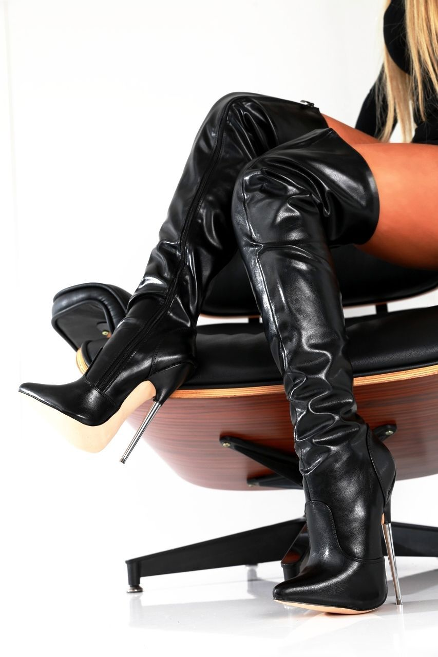 Giaro Slick Stiletto Stiefel Overknee Boots High Heels