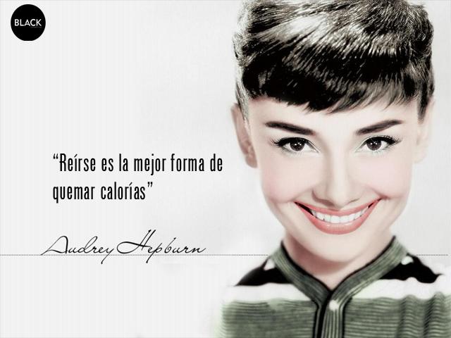 Audrey Hepburn Reírse Es La Mejor Forma De Quemar Calorías
