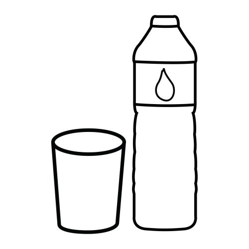 Vaso De Agua Colorear Buscar Con Google Agua Para Colorear Botellas De Agua Alimentos Para Colorear