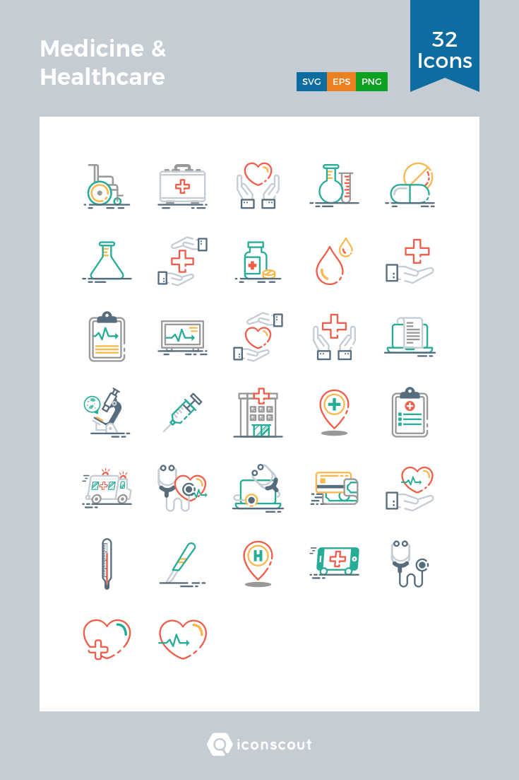 Download Medicine & Healthcare Icon pack Available in