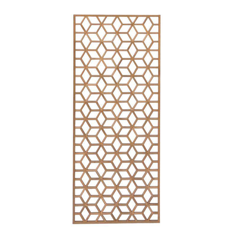 Rectangular Plain Wood Geometric Pattern Wall Panel