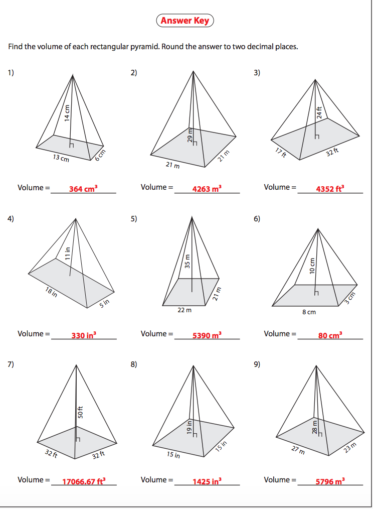 Printables of Surface Area Of A Triangular Pyramid