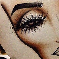 Beauty Drawing Art Creative Makeup Cosmetics Eyelashes Eye Shadow