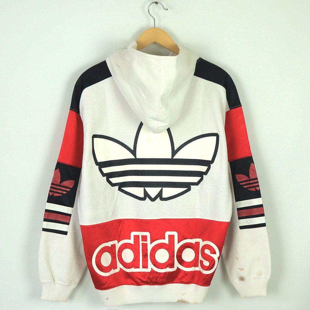 Rare Vintage 80s 90s Adidas Hoodie Sweatshirt Long Sleeve Etsy Adidas Hoodie Adidas Street Style Clothes [ 1000 x 1000 Pixel ]