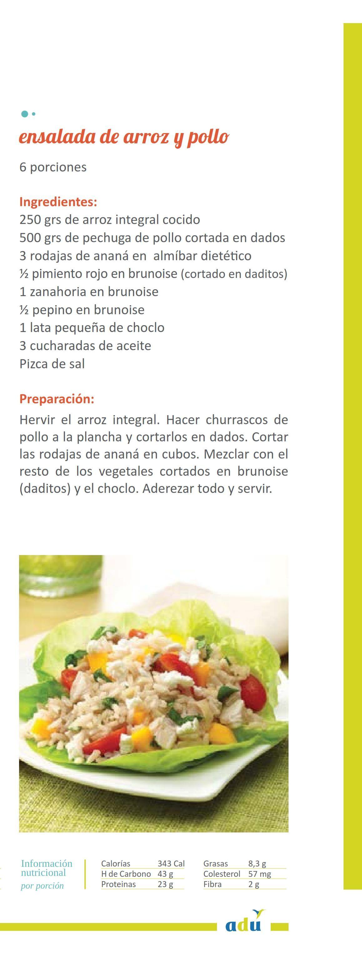 Ensalada De Arroz Y Pollo 001 Min Pollo Ensaladas Sopa De Choclo