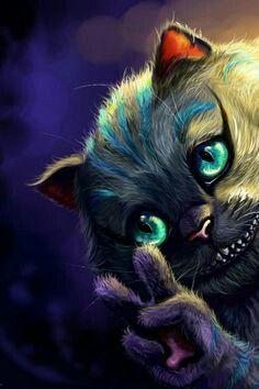 Gato De Alice No Pais Das Maravilhas Fotos Para Tela Gato