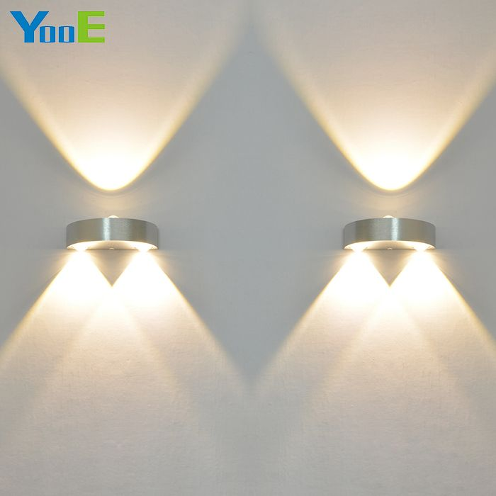 Yooe 2pcs Lots Wall Lamps Indoor Led 3w Ac110 220v Modern Wall Sconce Indoor Lighting Living Room Bedroom Bedside Wall Led Wall Lamp Wall Lamp Led Wall Lights