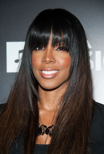 Weaves With Bangs : weaves, bangs, Kelly, Rowland, Weave, Fringe, Styles,, Frontal, Hairstyles,, Balayage, Straight