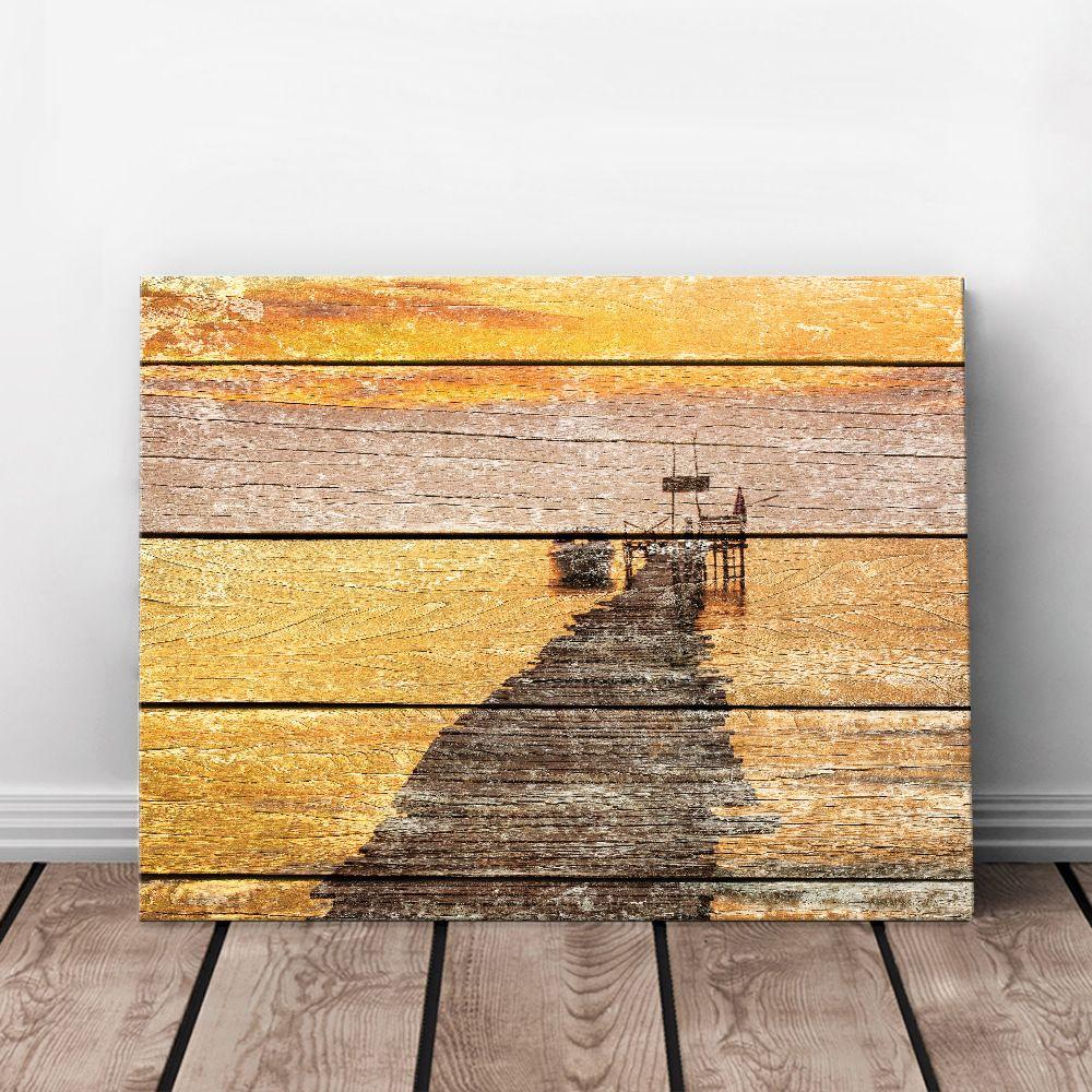 Spanking new arrival Art Print Oil Painting Sunset Framed Wood ...
